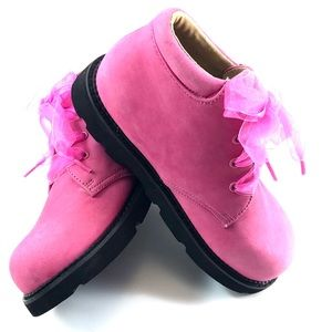 Mulberry Shoes - Mulberry Bush Pink Suede Lace Up Ankle Boots